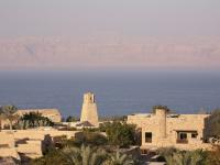 View across the Dead Sea from Jordan to Israel